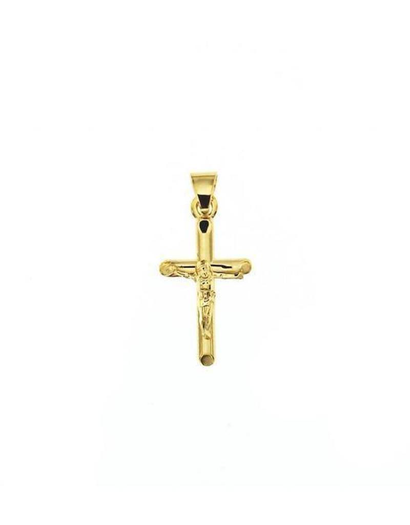 van Leeuwen Gouden kruisje - 14 karaats - Corpus
