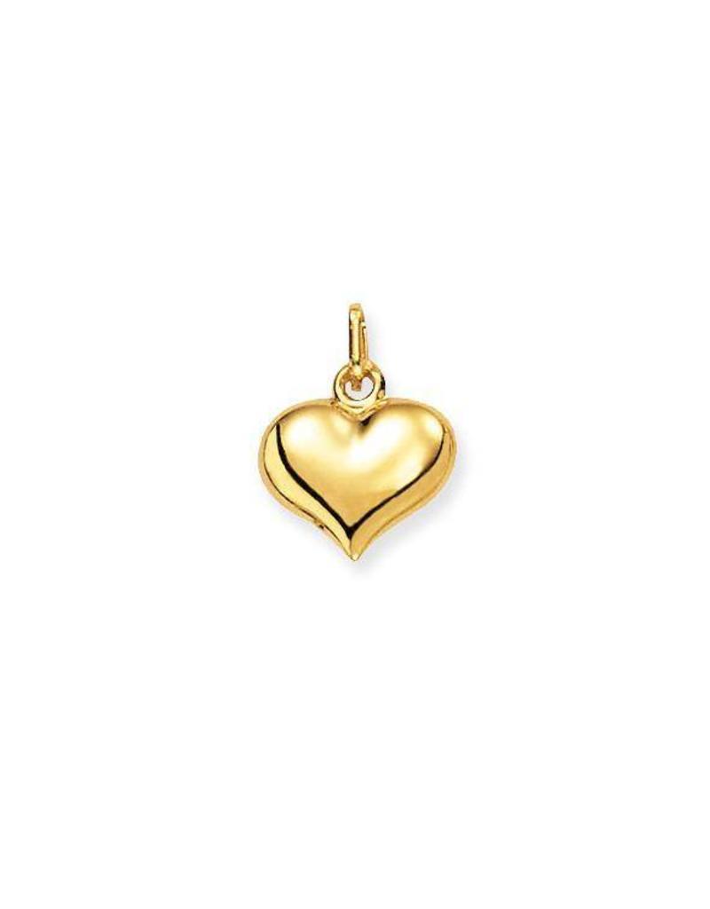 van Leeuwen Gouden bedel - 14 karaats - Bol hart - Glanzend