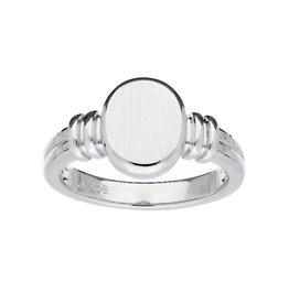 van Leeuwen Zilveren ring - Cachet - Ovaal - Maat 50