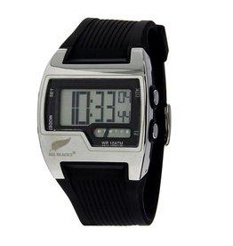 All Blacks All Blacks - Horloge - Kunststof - Silicone band - Chronograaf alarm - Digitaal/analoog