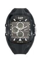 All Blacks All Blacks - Horloge - Staal - Silicone band - Chronograaf alarm - Digitaal/analoog