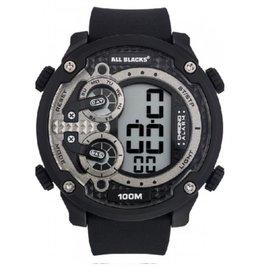 All Blacks All Blacks - Horloge - Kunststof - Silicone band - Chronograaf alarm - Digitaal