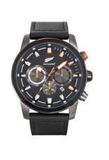 All Blacks All Blacks - Horloge - Staal - Leren band - Chronograaf