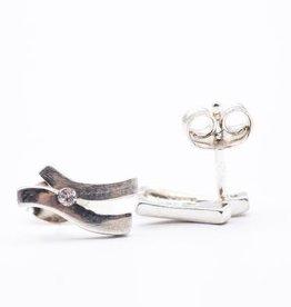 Zilveren oorknoppen - Zirkonia