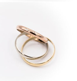 Occasions by Marleen Occasions by Marleen - Gouden ring - Tricolor - Maat 15