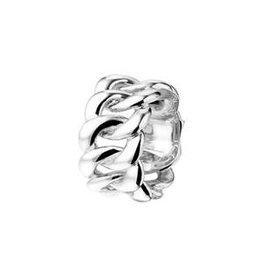 Zilveren damesring - Maat 19