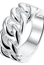 Zilveren damesring - Maat 18.5
