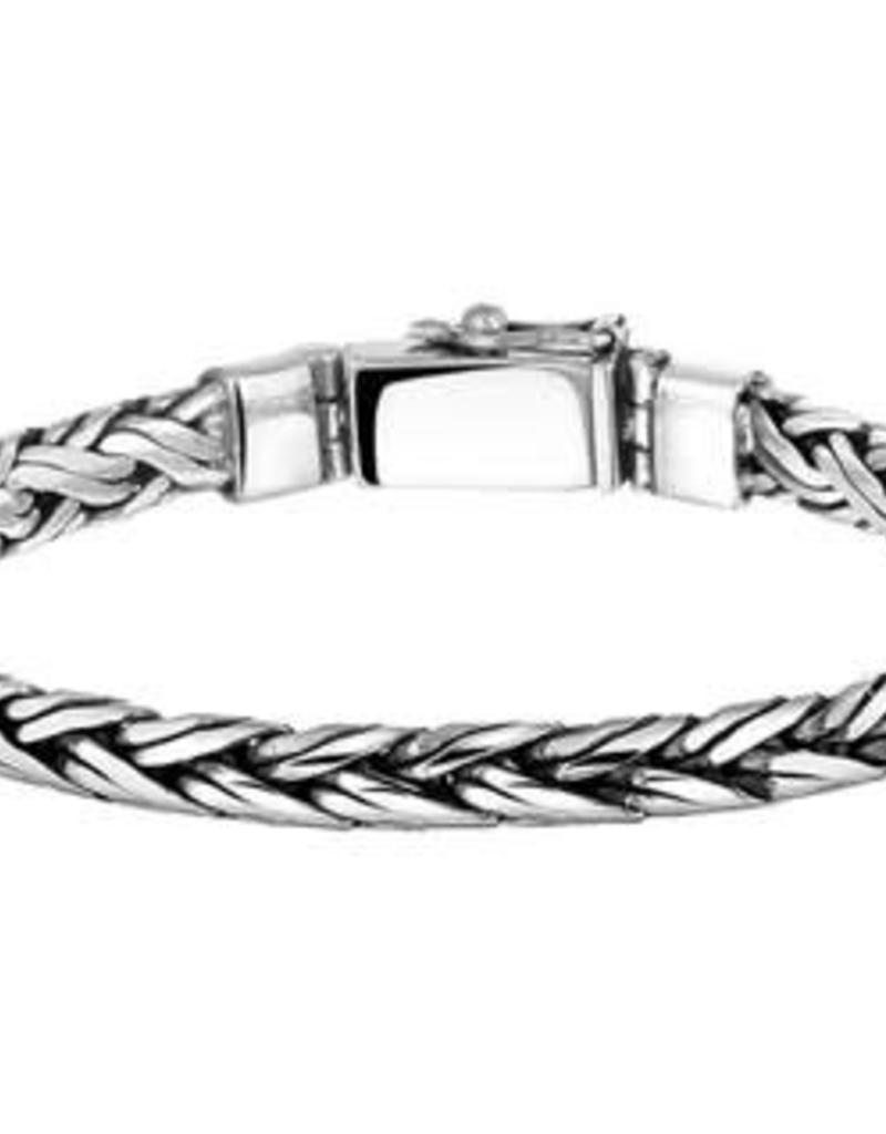 Zilveren armband - Geoxideerd - 20 cm