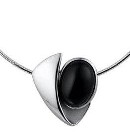 Zilveren collier - Onyx - 45-45 cm