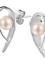 Zilveren oorknoppen - Zoetwaterparel