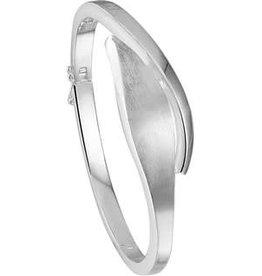 Zilveren slavenband - Mat/Glanzend