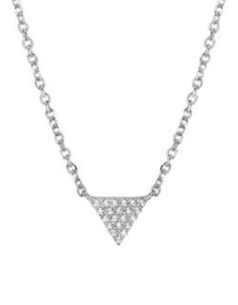 Zilveren collier - Zirkonia - 40-45 cm