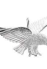 Zilveren bedel - Adelaar