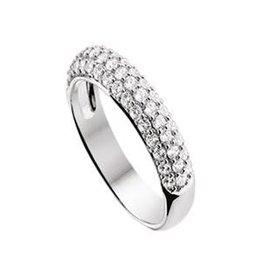 Zilveren ring - Zirkonia - Maat 17 3/4