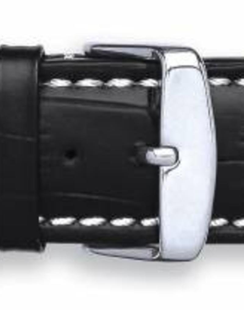 Condor horloge band - Leer - Zwart - 337R.01.xx