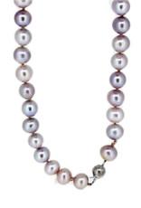 Renaissance Parel collier - Zoetwaterparel - Grijs/roze