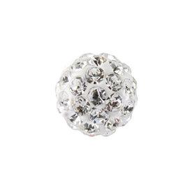 Studex Schietknopjes - Chirurgisch staal - Fireball witte stenen