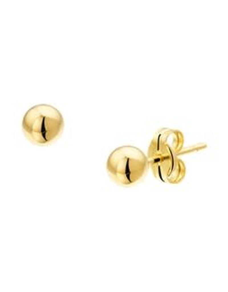 Gouden bol oorknoppen - Glad - 4.0 mm