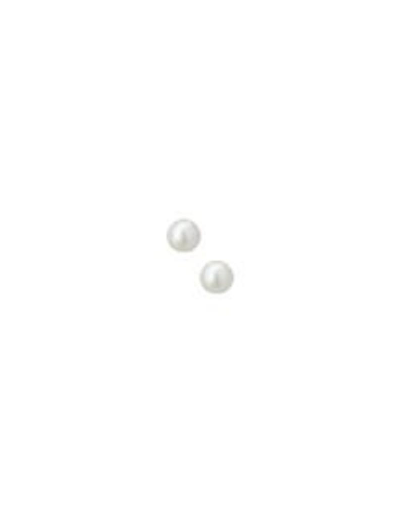 Zilveren oorknoppen - Gerhodineerd - Zoetwaterparel - 4 mm