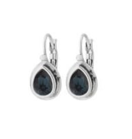 Biba Biba - Oorbellen - Blauw diamant