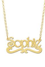Gouden naamketting model Sophie