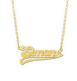 Naamcollier Gouden naamketting model Simone