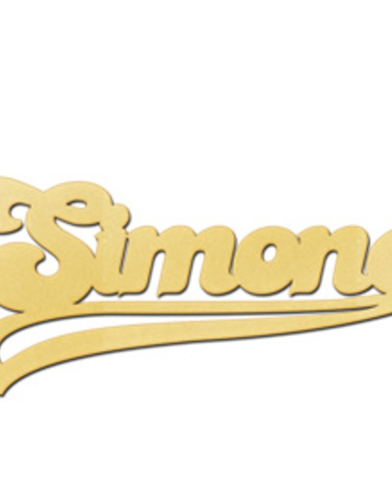 Gouden naamketting model Simone