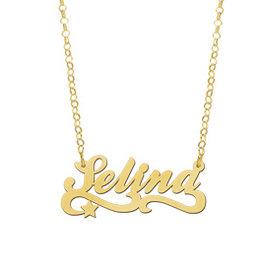 Naamcollier Gouden naamketting model Selina