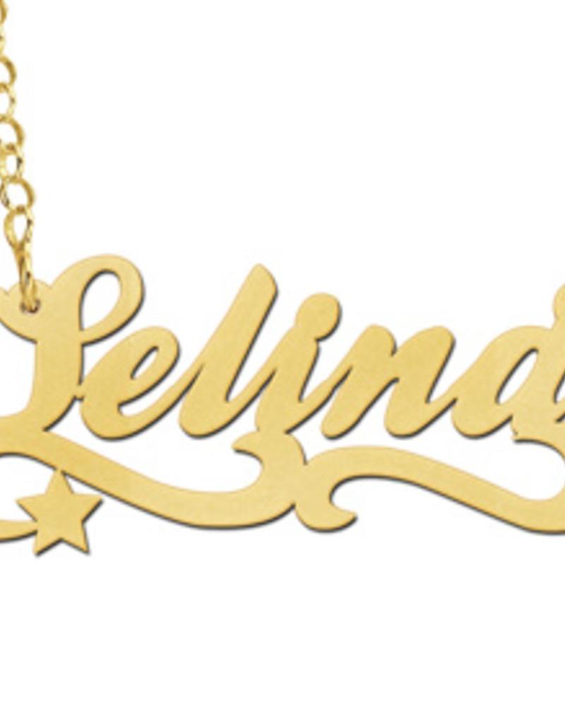 Gouden naamketting model Selina