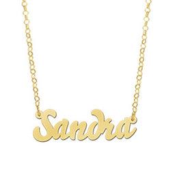 Naamcollier Gouden naamketting model Sandra