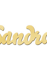 Gouden naamketting model Sandra