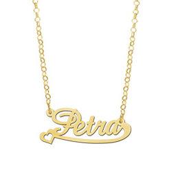Gouden naamketting model Petra