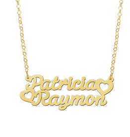 Naamcollier Gouden naamketting model Patricia - Raymon