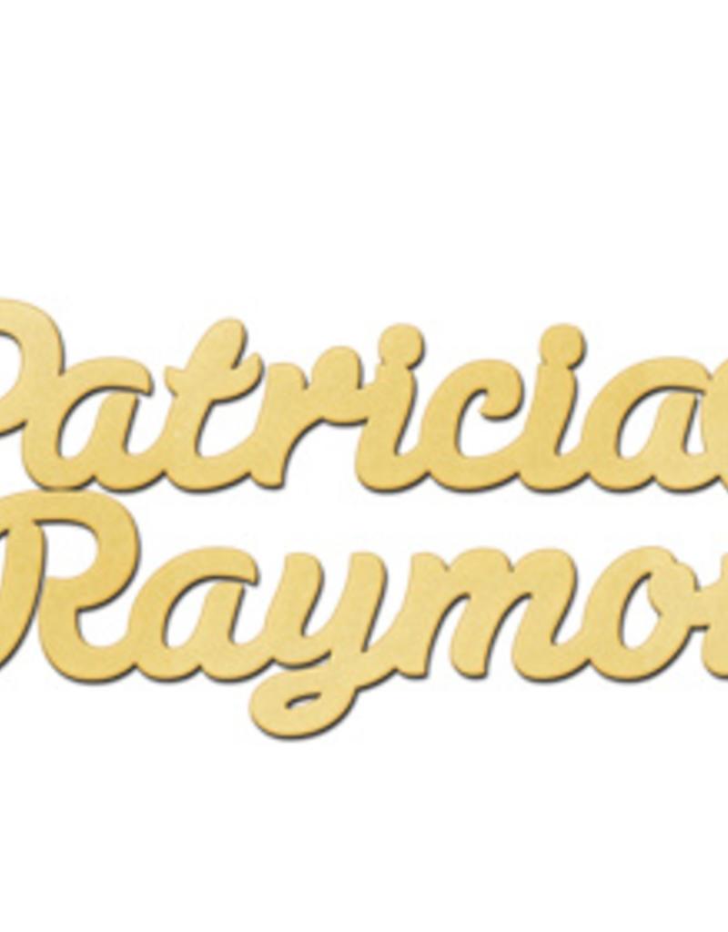 Gouden naamketting model Patricia - Raymon