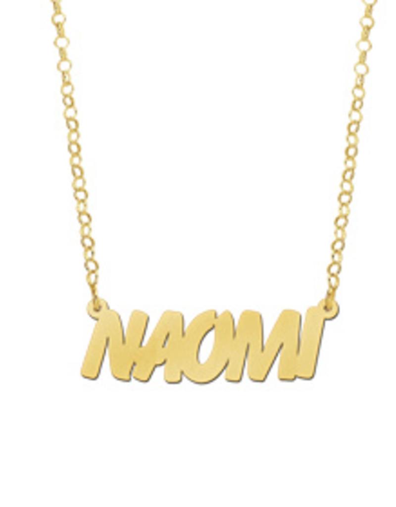 Gouden naamketting model Naomi