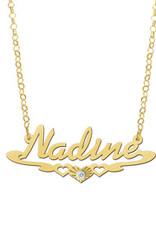 Gouden naamketting model Nadine
