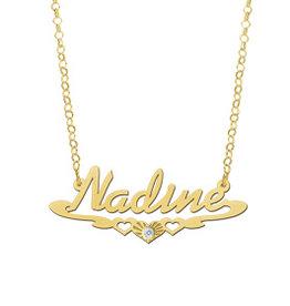 Naamcollier Gouden naamketting model Nadine
