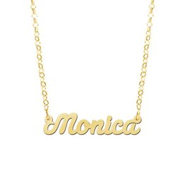 Gouden naamketting model Monica