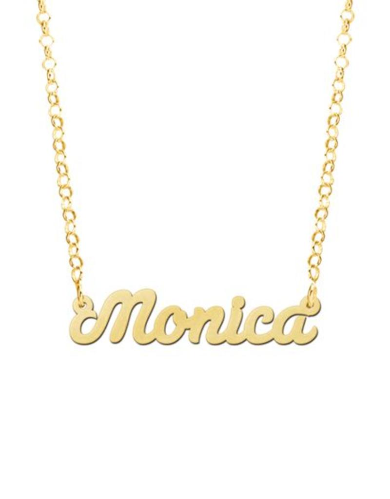 Gouden naamketting model Monica