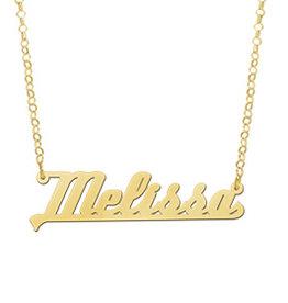 Naamcollier Gouden naamketting model Melissa