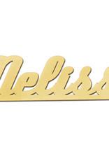 Gouden naamketting model Melissa