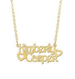 Naamcollier Gouden naamketting model Kimberly - Casper