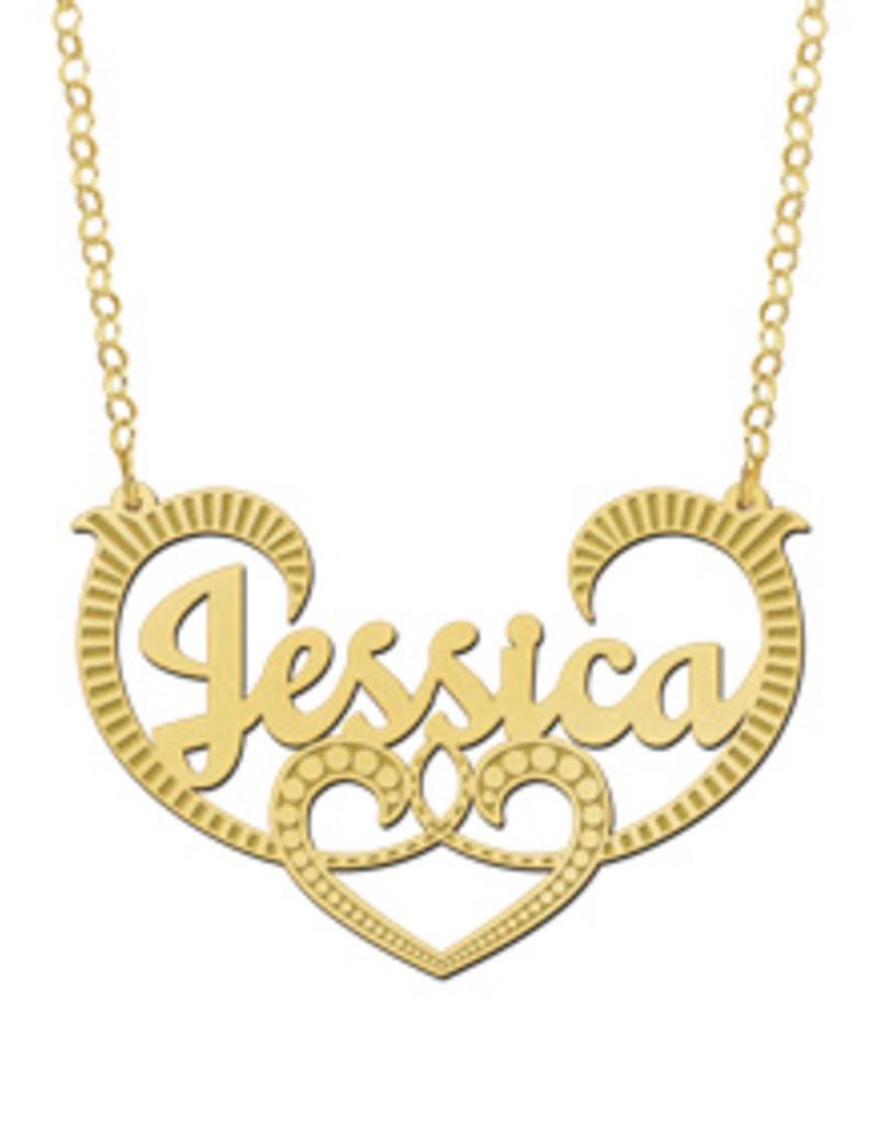 Gouden naamketting model Jessica