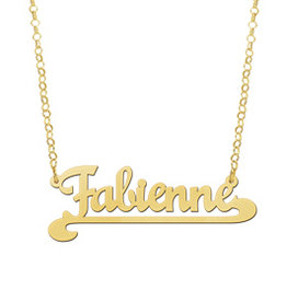 Naamcollier Gouden naamketting model Fabienne