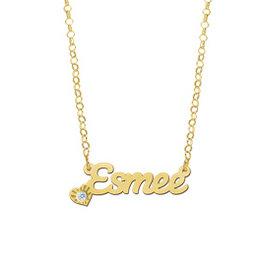 Naamcollier Gouden naamketting model Esmee