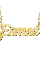 Gouden naamketting model Esmee