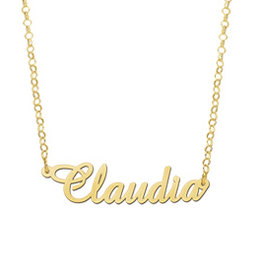 Naamcollier Gouden naamketting model Claudia