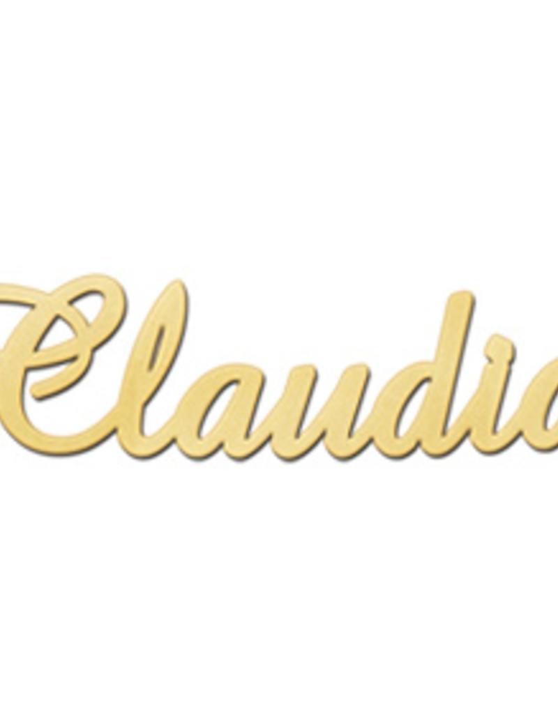 Gouden naamketting model Claudia