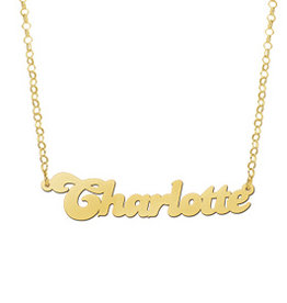 Naamcollier Gouden naamketting model Charlotte