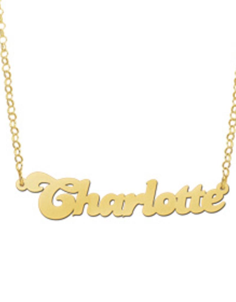 Gouden naamketting model Charlotte